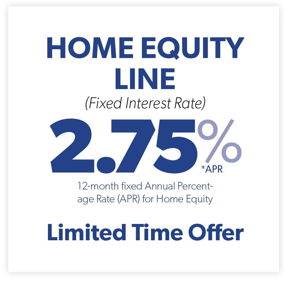 Home Equity Line of Credit- 2.75%
