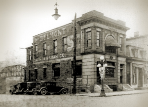 Belmont Savings Bank in 1885